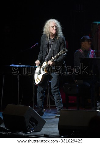 New York, NY - October 22, 2015: Waddy Wachtel preforms during Great NIght in Harlem fundraising concert for Jazz Foundation of America at Apollo theater