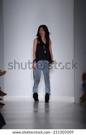 NEW YORK, NY - SEPTEMBER 04: Designer Marissa Webb walks the runway at the Marissa Webb fashion show during Mercedes-Benz Fashion Week Spring 2015 on September 4, 2014 in New York City.  - stock photo