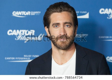 New York, NY - September 11, 2017: Jake Gyllenhaal attends Annual Charity Day hosted by Cantor Fitzgerald, BGC and GFI at Cantor Fitzgerald Park Avenue