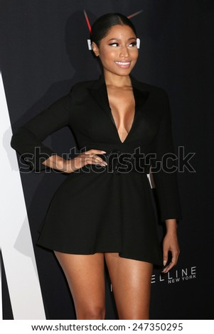 NEW YORK, NY - SEPTEMBER 9, 2014: Nicki Minaj attends Fashion Rocks at the Barclays Center on September 9, 2014 in New York.  - stock photo