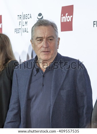 New York, NY, USA - April 21, 2016: Actor Robert De Niro attends the 'Taxi Driver' 40th Anniversary Celebration during the 2016 Tribeca Film Festival at The Beacon Theatre, NYC