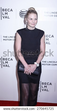 New York, NY, USA - April 17, 2015:  Actress Jennifer Morrison attends the premiere of 'The Wannabe' during the 2015 Tribeca Film Festival at BMCC Tribeca PAC, Manhattan - stock photo