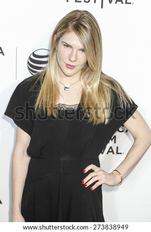New York, NY, USA - April 15, 2015: Actress Lily Rabe attends the world premiere of 'Live From New York' during the 2015 Tribeca Film Festival at The Beacon Theatre, Manhattan - stock photo