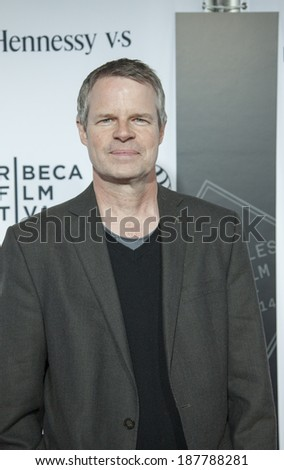 New York, NY, USA - April 16, 2014:  Documentary film director Doug Pray attends the 2014 Tribeca Film Festival Opening Night Premiere of 'Time Is Illmatic' at The Beacon Theatre, Manhattan