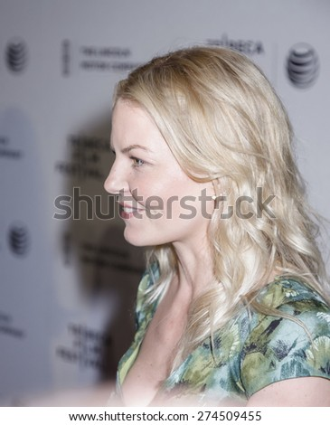 New York, NY, USA - April 21, 2015: Jennifer Morrison attends Special Screening Narrative On The Town during the 2015 Tribeca Film Festival at Spring Studios, Manhattan - stock photo