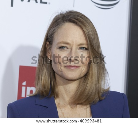 New York, NY USA - April 22, 2016: Jodie Foster attends 40th anniversary screening of Taxi Driver at Tribeca Film Festival - stock photo