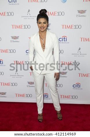 New York, NY USA - April 26, 2016: Priyanka Chopra attends Time 100 gala at Jazz at Lincoln Center - stock photo