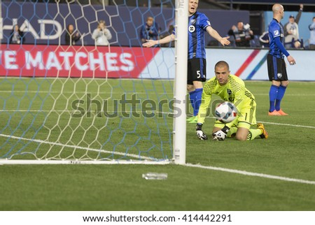 New York, NY USA - April 27, 2016: RJ Allen (27) of NYC FC (not pitured) scores goal during MLS game NYC FC against Montreal Impact at Yankee Stadium