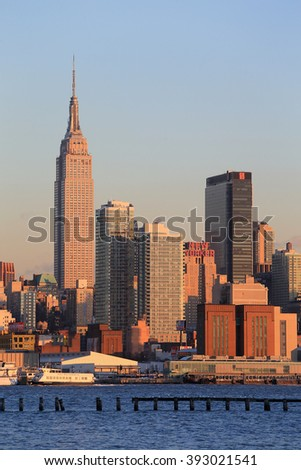 NEW YORK, NY, USA- FEB 26: New York Skyline from NJ, February 26, 2014