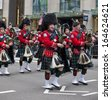 NEW YORK, NY, USA - MAR 16:  Bagpipers at the St. Patrick's Day Parade on March 16, 2013 in New York City, United States. - stock photo