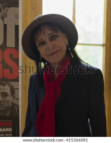 New York, NY USA - May 3, 2016: Actress Anna Karina attends press conference celebrating new restoration of Band of Outsiders film at French Cultural Services - stock photo