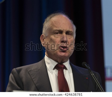 New York, NY USA - May 22, 2016: Ronald Lauder President of World Jewish Congress attends Jerusalem Post COnference 2016 at Marriott Marquis Times Square