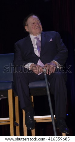 New York, NY USA - May 5, 2016: Sheldon Adelson attends 4th annual champions of Jewish values international awards gala at Marriott Marquis Times Square - stock photo