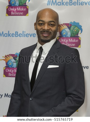 New York, NY USA - November 14, 2016: Brandon Victor Dixon attends Only Make Believe Gala MAKE BELIEVE ON BROADWAY at St. James Theater in New York
