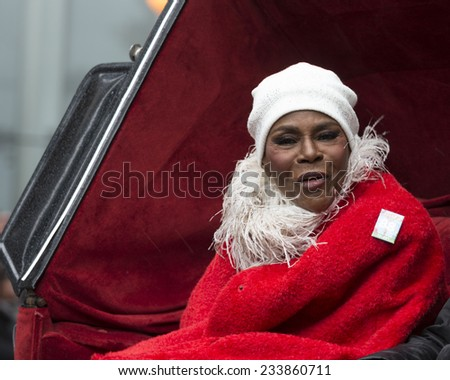 New York, NY USA - November 27, 2014: Cicely Tyson rides float at the 88th Annual Macy's Thanksgiving Day Parade along 6th Avenue