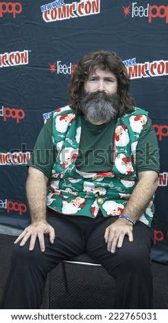 New York, NY, USA - October 10 2014:  Mick Foley attends Comic Con 2014 at The Jacob K. Javits Convention Center in New York City - stock photo