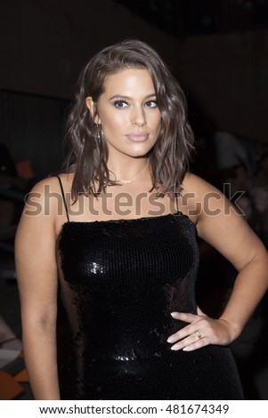 New York, NY USA - September 10, 2016: Ashley Graham attends runway for Christian Siriano collection during New York Fashion week Spring/Summer 2017 at Art Beam