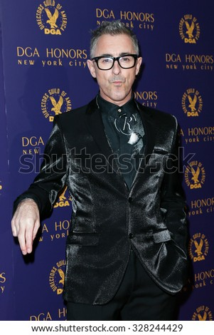 NEW YORK-OCT 15: Actor Alan Cumming attends the DGA Honors Gala 2015 at the DGA Theater on October 15, 2015 in New York City. - stock photo