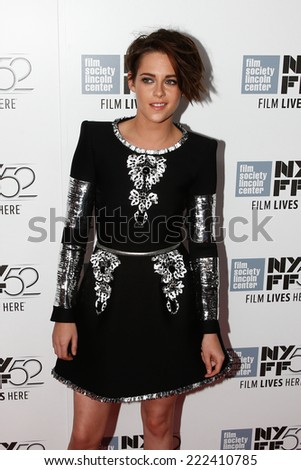 "NEW YORK-OCT 08: Actress Kristen Stewart attends the premiere of ""Clouds of Sils Maria"" at the 52nd New York Film Festival at Alice Tully Hall on October 8, 2014 in New York City.  - stock photo"