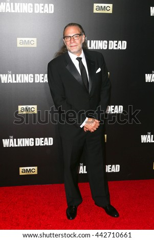NEW YORK-OCT 9: Creator Greg Nicotero attends AMC's 'The Walking Dead' season six premiere at Madison Square Garden on October 9, 2015 in New York City. - stock photo