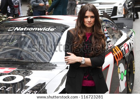 NEW YORK-OCT 25: Danica Patrick attends the unveiling of the new Tissot Swiss Watches Lobby Clocks at Madison Square Garden Box Office on October 25, 2012 in New York City. - stock photo