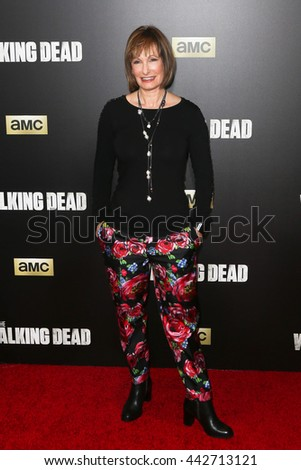 NEW YORK-OCT 9: Gale Ann Hurd attends AMC's 'The Walking Dead' season six premiere at Madison Square Garden on October 9, 2015 in New York City. - stock photo