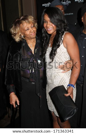 "NEW YORK - OCTOBER 22, 2012: Cissy Houston and Bobbi Kristina Brown attend the premiere of ""The Houstons: On Our Own"" at the Tribeca Grand on October 22, 2012 in New York City. - stock photo"