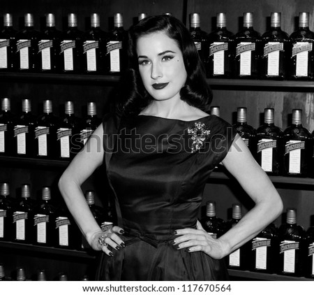 NEW YORK - OCTOBER 15: DITA VON TEESE CELEBRATES COCKTAIL COUTURE AT LA MAISON COINTREAU DEBUTS on October 15, 2012 in NYC
