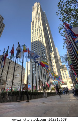 NEW YORK - OCTOBER 15, 2013: GE Building, Rockefeller Center, New York City - stock photo