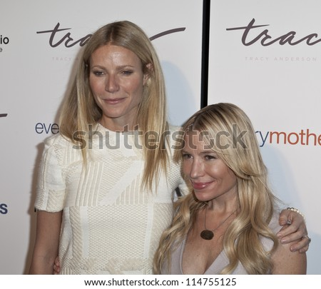 NEW YORK - OCTOBER 05: Gwyneth Paltrow and Tracy Anderson attend The Tracy Anderson Method Pregnancy Project at Le Bain At The Standard Hotel on October 05, 2012 in New York City. - stock photo