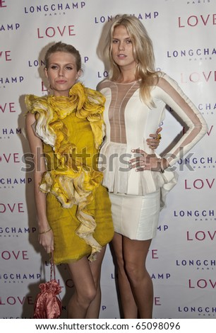 NEW YORK - OCTOBER 26: Theodora and Alexandra Richards attend at the 'The Gorgeous Issue' of Love Magazine with Longchamp at Longchamp La Maison Madison on October 26, 2010 in New York City.