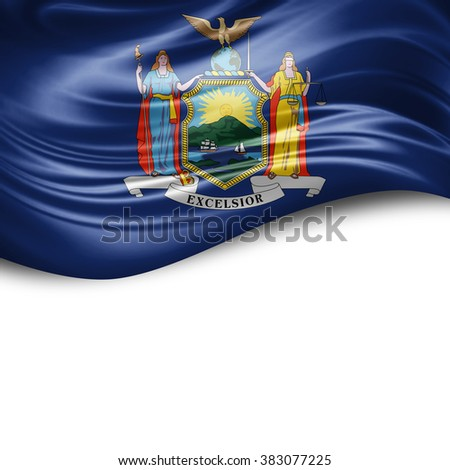 New York of silk with copyspace for your text or images and white background - stock photo