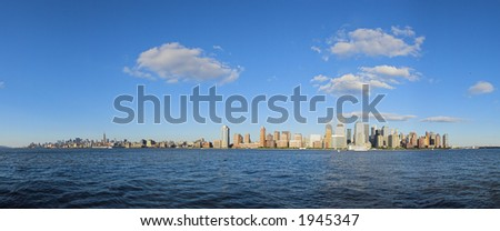New York panorama - stock photo