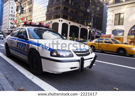 NEW YORK POLICE CAR - stock photo