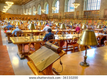 New York Public Library. - stock photo