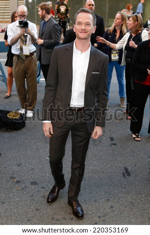 "NEW YORK-SEP 26: Actor Neil Patrick Harris attends the ""Gone Girl"" world premiere on opening night of the 52nd New York Film Festival at Alice Tully Hall on September 26, 2014 in New York City. - stock photo"
