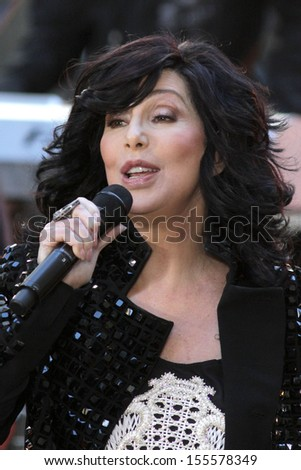 NEW YORK - SEPTEMBER 23: Cher performs on NBC's Today Show at Rockefeller Plaza on September 23, 2013 in New York City.