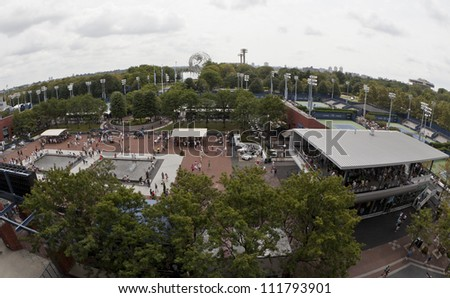 NEW YORK - SEPTEMBER 2: General view of USTA Tennis Center during US Open tennis tournament on September 2, 2012 in NYC