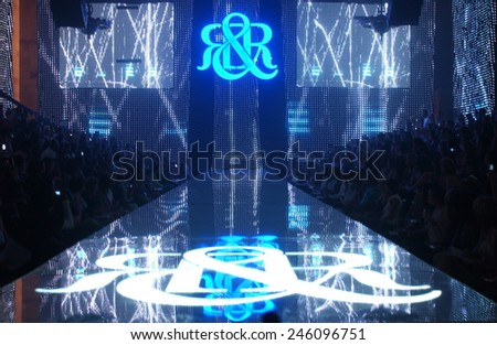 NEW YORK - SEPTEMBER 09 : general view to the runway during  Rock & Republic at Olympus Fashion Week Spring 2007  at Cipriani  - September 09, 2006 in NYC, NY, United States. - stock photo