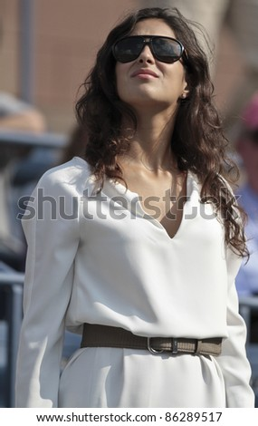 NEW YORK - SEPTEMBER 12: Maria Francisca Perello attends final match between Novak Djokovic of Serbia and Rafael Nadal of Spain at USTA Billie Jean King National Tennis Center on Sep 12, 2011 in NYC - stock photo