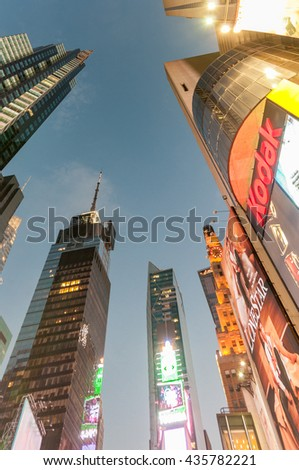New York - SEPTEMBER 5, 2010: Times Square on September 5 in New - stock photo