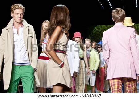 NEW YORK - SEPTEMBER 12: Tommy Hilfiger spring summer 2011 fashion show at New York fashion week September 12, 2010 in New York, New York - stock photo