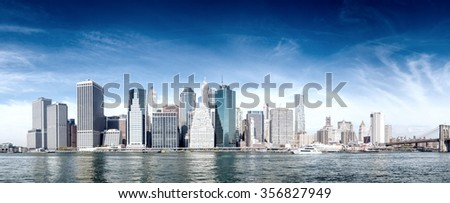 New York skyline. - stock photo