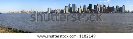 New York skyline panorama - stock photo