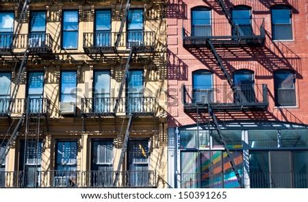 New york stairs facade. - stock photo