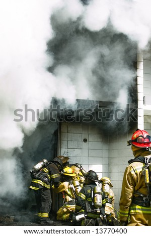 New York State Association Of Fire Chiefs 2008 Convention hands-son training. - stock photo