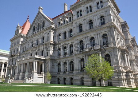 New York State Capitol in Albany - stock photo