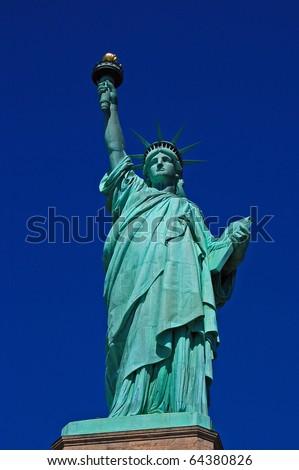 New York - Statue of Liberty Close-Up - stock photo
