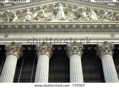 New york stock exchange building designed by George B Post, wall street, manhattan, new york city, America, usa