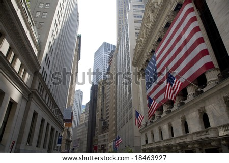 New York Stock Exchange-03 june 2008 - stock photo